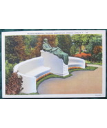 Curteich, white border, linen postcard, Trudeau Memorial, Sa - $6.00