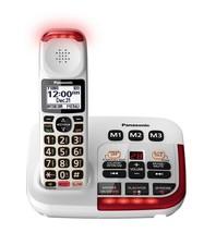 Panasonic KX-TGM420W 40dB Amplified Loud Cordless Phone w/ Answering Mac... - $99.95