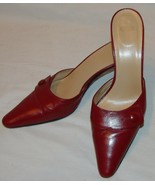 Coach Womens Cranberry Red Heels 7 1/2 7.5 B Judith Slides Pointed Toe S... - $36.68