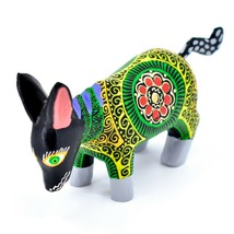Handmade Alebrijes Oaxacan Wood Carved Painted Folk Art Donkey Burro Figurine image 2