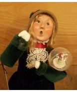 Byer's Choice Caroler, Girl with Snowglobe, Gre... - $43.00