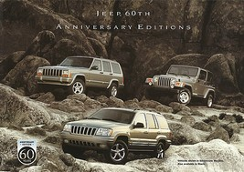 2001 Jeep 60th ANNIVERSARY EDITIONS sales brochure sheet US Wrangler Che... - $8.00