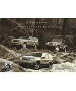 2001 Jeep 60th ANNIVERSARY EDITIONS sales brochure sheet US Wrangler Che... - $8.00