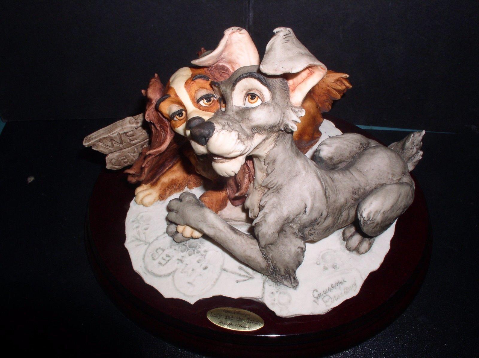 Lady and the Tramp Giuseppe Armani-Disney Figurine LE of 750 Mint COA orig Box
