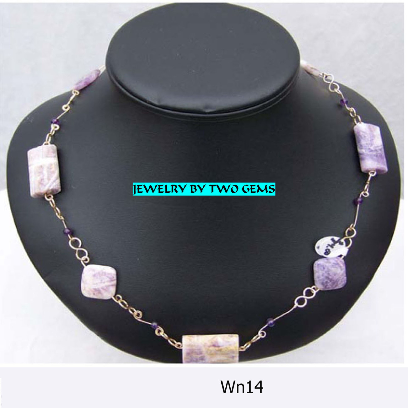 Jewelry By Two Gems (Wn14) 14Kt GF Charoite and Amethyst Nec