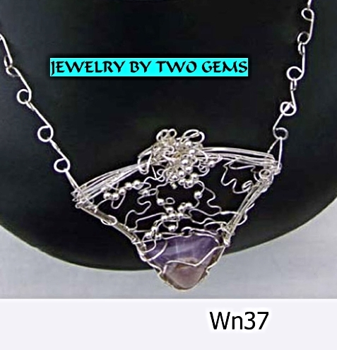 Jewelry By Two Gems (Wn37) Sterling Silver Intricate Amethys