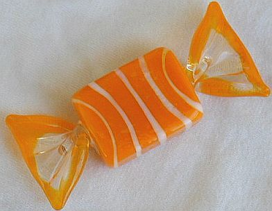 Orange candy miniature