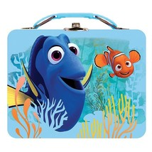 Disney Pixar Lunch Box, Finding Dory Metal Adults Blue Storage Lunch Tin... - $21.79