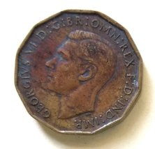 Great Britain United Kingdom UK England 3 Pence Coin km849 1943 - $0.50