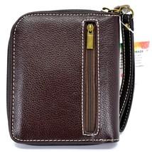 Chala Handbags Faux Leather Gen II Cat Brown Stripe Zip Around Wristlet Wallet image 2