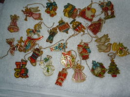 Vintage Stain Glass Plastic Ornaments Assortment of 25 - $7.99