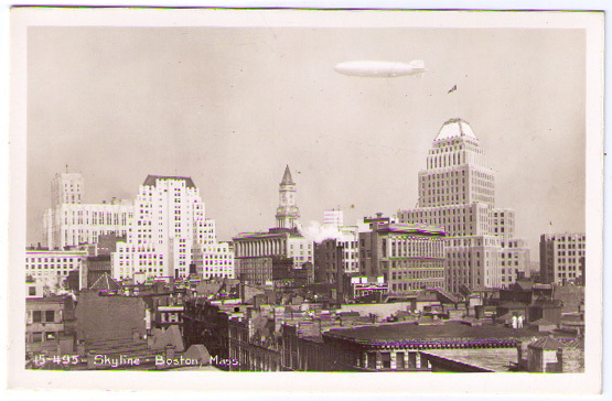RPPC - Boston Massachusetts Skyline - Skyscrapers Buildings