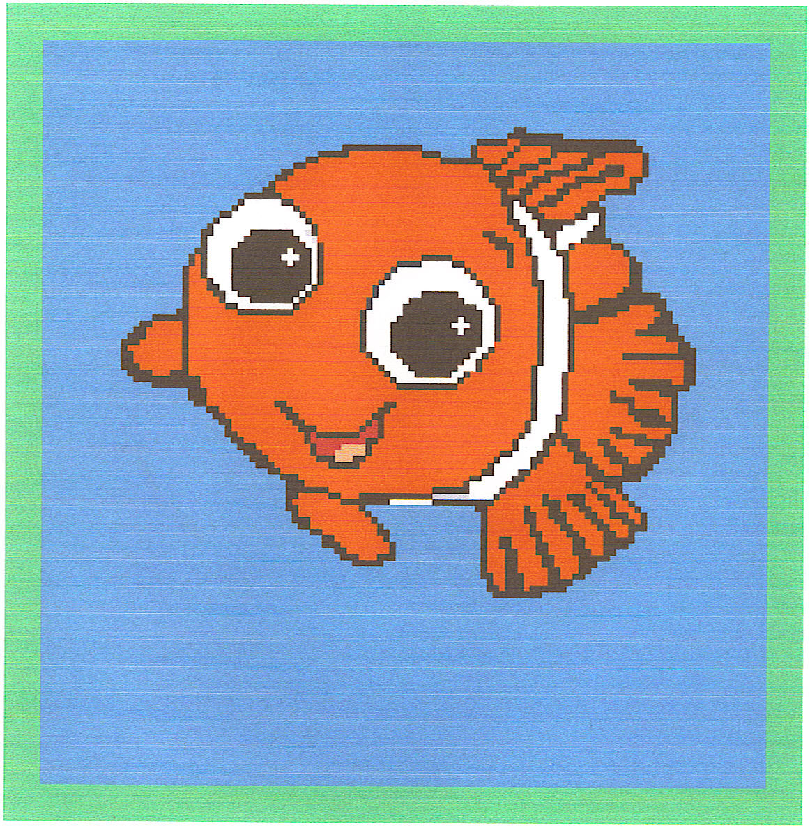 Nemo Crochet Graph Afghan Pattern