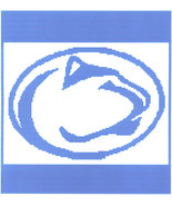 Nittany Lion Crochet Graph Afghan Pattern - $5.00