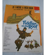 "If I Were A Richman- From "" Fiddler on The Roof""- Harnick - $5.00"