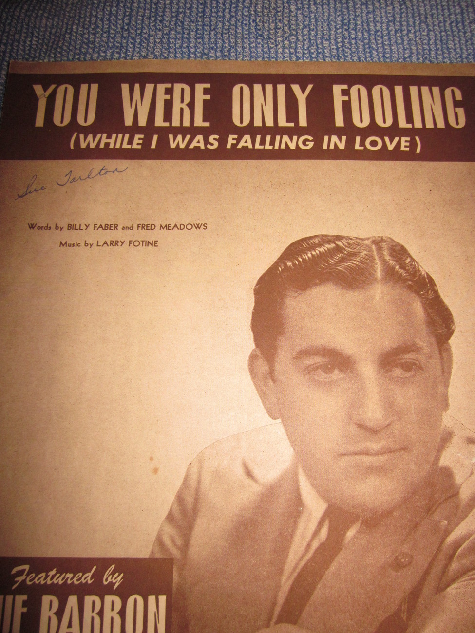 Vintage Sheet Music You Were Only Fooling - Blue Barron Orchestra 1946
