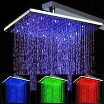 Cascada Square Rainfall LED Shower Head, Heavy Duty Metal (Without Shower Arm) ( - $326.65