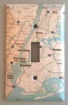 New York city NYC 5 borough Map Light Switch Outlet Cover Plate Home Decor