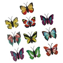 "PacK of 10 Vinyl 3D BUTTERFLY Refrigerator Magnets about 1-3/4"" x 1-3/8""... - $4.54"