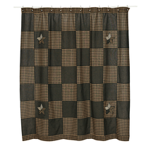 Farmhouse Star Checkerboard Shower Curtain