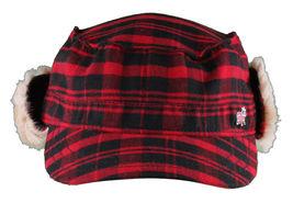 "Christys Crown ""Hunter"" Plaid Faux Shearling Ear Flap Cap Hat Medium/Large NWT image 3"