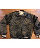 Vintage Chicago WHITE SOX Black Satin Baseball  MED Jacket SWINGSTER EXC - $57.00