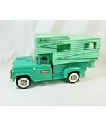 Vintage 1960's Buddy L Pressed Steel Ford Pick-up Camper w/ Spring Suspe... - $168.29