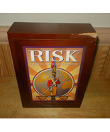 Risk Vintage Wooden Bookshelf Strategy Board Game Hasbro Complete - $19.58