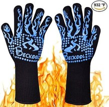 Beckool Heat Resistant Oven Gloves, Grill Gloves BBQ Accessories Oven M... - $18.63