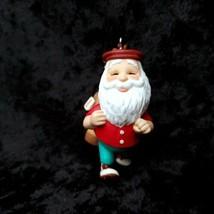 2001 Hallmark Golfing Santas Day Off Christmas Tree Ornament Golf  - $14.84
