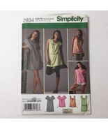 Simplicity 2934 Size 14-22 Misses' Knit Mini Dress Tunic Top - $11.64