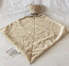 Carter's PRECIOUS FIRST Bear TAN BROWN Security BABY Blanket Lovey RATTLE - $14.95