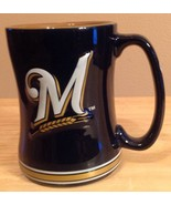 Milwaukee Brewers 14 oz Coffee Mug - New In Box! Brewers Fan Gift! - $14.94