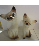 Vintage Siamese Cat Salt and Pepper Shakers - $23.70