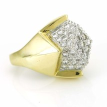 Geometric Diamond Cocktail Ring in 18k Yellow Gold Size6 - $4,153.05