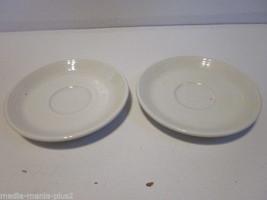 Vintage Set Of 2 Homer Laughlin Fiestaware White Saucers - $9.99