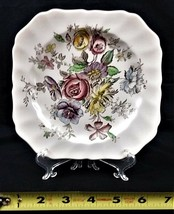 VTG COLLECTIBLE JOHNSON BROTHERS SHERATON SQUARE SALAD PLATE MADE IN ENGLAND image 2