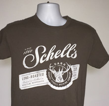 Mens Long Roasted Dark Beer August Schell Brewing Co t shirt small - $21.73
