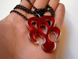 Kingdom Hearts Necklace, Spirit Dream Eater Necklace , Mirror/ Red Plastic - $11.26