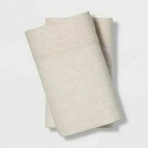 KING Size Tencel Jersey Blend Pillowcase Set Beige Project 62+ Nate Berkus NEW image 1