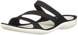 Crocs Women's Swiftwater Sandal Sport (8|Black/White) - $36.74