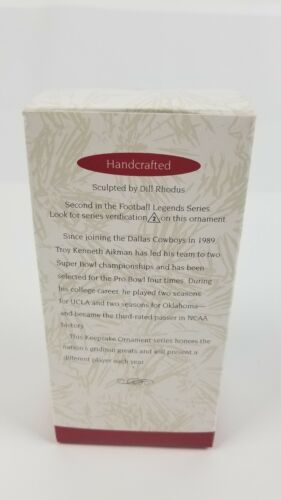 (Lot of 2) Hallmark Keepsake 95 & 96 Joe Montana 49er & Troy Aikman NFL Football
