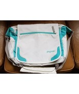 Jansport Sling Messenger Backpack White Aqua Cross Body Padded Shoulder ... - $24.74