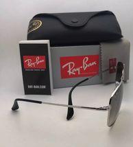 RAY-BAN Sunglasses THE COLONEL RB 3560 003/32 58-17 Silver Aviator w/ Grey Fade image 6