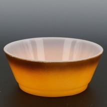 """Fire-King 5"""" Stacking Bowl Orange Brown Fade image 2"""