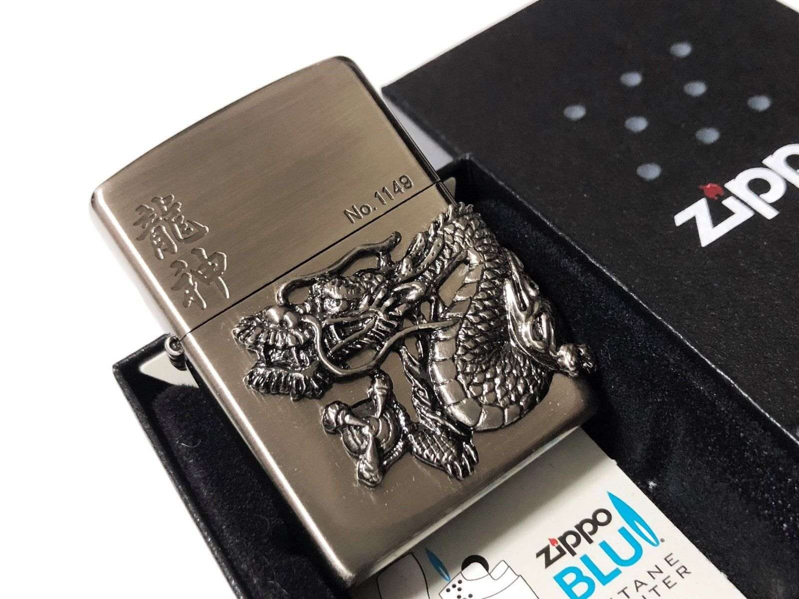 Rare New Zippo Limited Edition Dragon And 50 Similar Items God 3 Sided Design Lighter No1149