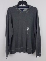 Club Room Men's Solid Tipped Crew Neck Sweater Charcoal Heather XL 26337 - €16,71 EUR