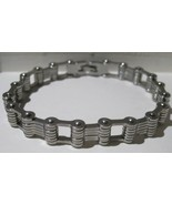 Stainless Steel Motorcycle Bike Chain Bracelet Polished Men 11.11mm - $51.43