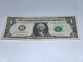 2013 $1 Dollar Bill US Bank Note Date Year Birthday 1923 7263 Fancy Mone... - $12.95