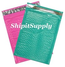 2-500 #0 6x10 Poly ( Pink & Teal ) Color Bubble Padded Mailers Fast Ship... - $3.49+